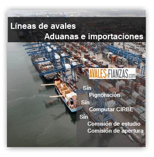 Avales aduanas e importaciones